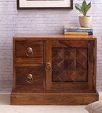 Hand Crafted Sheesham Wood Bedside Table