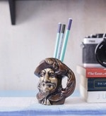 Brown Brass Shakespeare Pen Holder