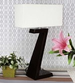 White Cotton Deco Modern Table Lamp