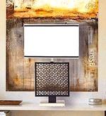 White Cotton Lenore Design Table Lamp