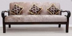 Hapihomes Three Seater Sofa in Walnut Finish