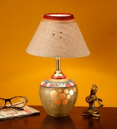 Handcrafted Hand Painted Teracotta Table Lamp Table Lamp