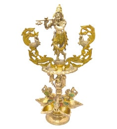 Handecor Multicolour Krishna With Flute Oil Lamp