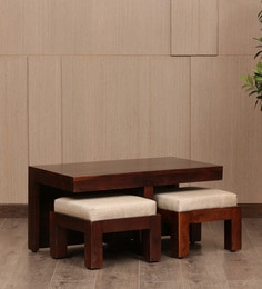 Hassock Coffee Table Set With Two Stools