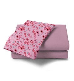 Haus And Sie Baby Pink Cotton 96 X 108 Inch Queen Bed Sheet With Pillow Cover