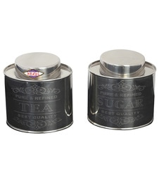 Hazel Silver 2-Piece 700 ML Tea Sugar Oval Containers