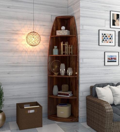 Hadden Solid Wood Book Shelf In Provincial Teak Finish By Woodsworth