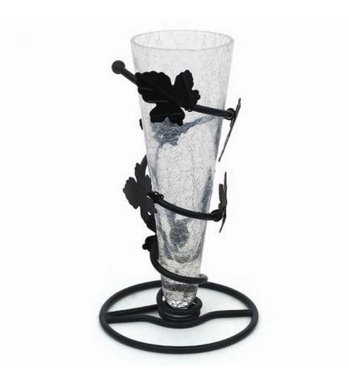 Buy Hapuka Wrought Iron Cone Shaped Flower Vase Online Pots
