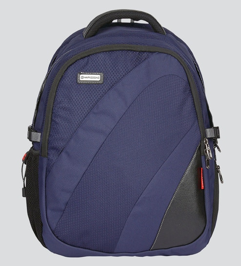 92e0e36187 Buy Harissons Fortuner Blue Polyester Backpack