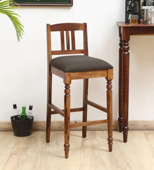 Harleston Solid Wood Bar Stool In Provincial Teak Finish By Amberville