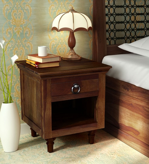 Harleston Solid Wood Night Stand In Provincial Teak Finish By Amberville