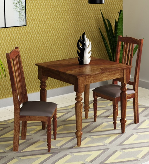 e0af32ba6f Harleston Solid Wood Two Seater Dining Set in Provincial Teak Finish by  Amberville