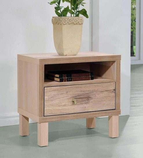 Haruna Bed Side Table in Natural Finish by Mintwud By Pepperfry @ Rs.2,499
