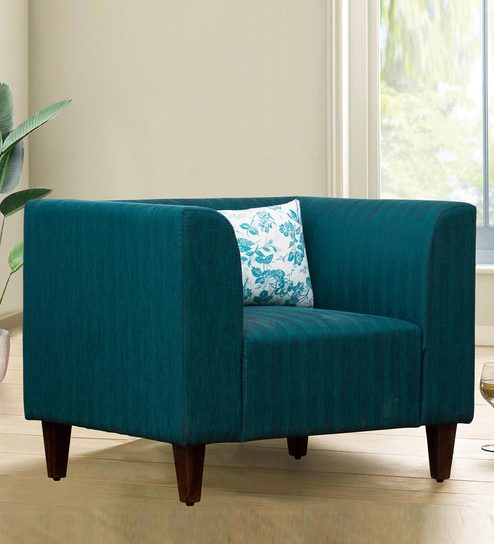 Excellent Harvey One Seater Sofa In Green Colour By Peachtree Machost Co Dining Chair Design Ideas Machostcouk