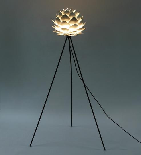 Cocoon Silver Aluminum Floor Lamp By Ekko