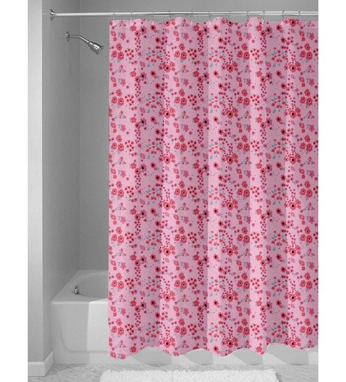 Pink Nylon 84 X 48 Inch Shower Curtain By Haus And Sie