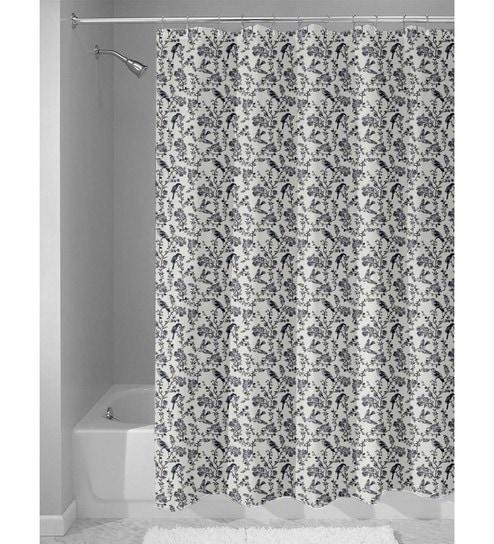 White Nylon 84 X 48 Inch Shower Curtain By Haus And Sie