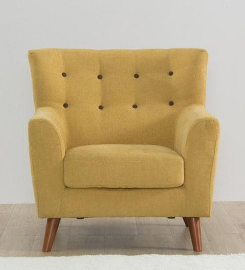 Havana One Seater Sofa In Ochre Colour By Casacraft