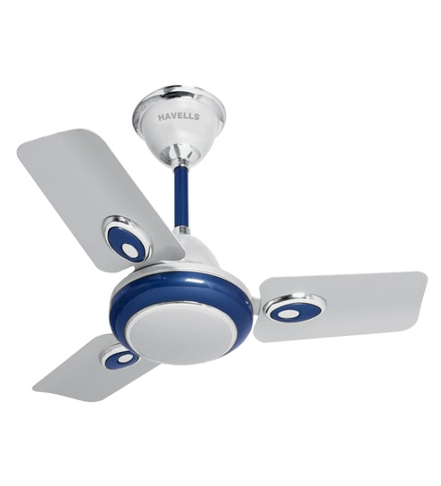 Merveilleux Havells Fusion Hi Speed 600 Mm Silver Blue Ceiling Fan
