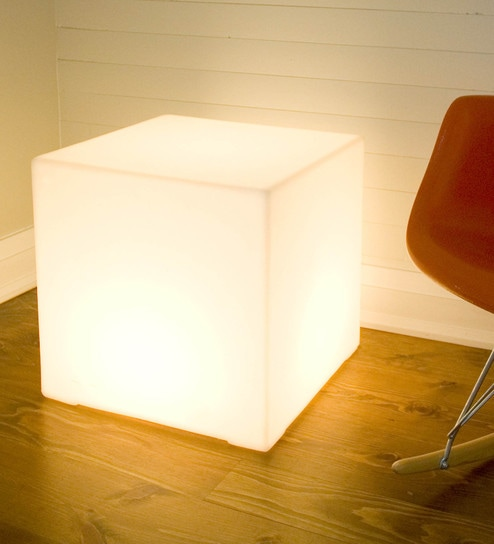 Buy white acrylate glow cube table lamp by haverds online white acrylate glow cube table lamp by haverds mozeypictures Image collections