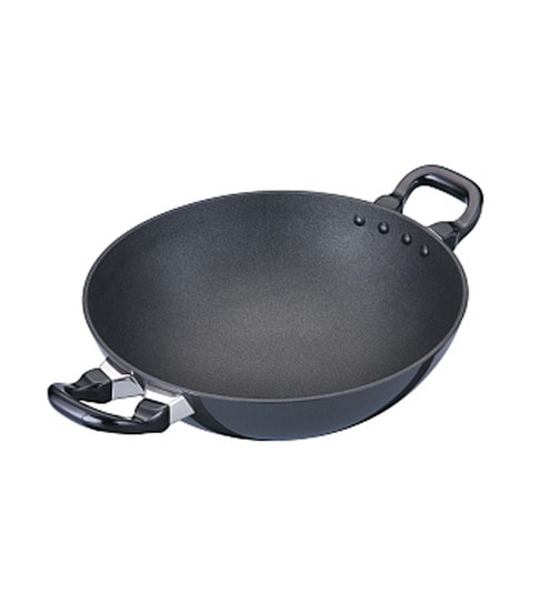 Buy Futura Hard Anodized 2 5 L Non Stick Kadai By Hawkins