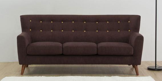 Havana Three Seater Sofa in Dark Brown Colour by CasaCraft