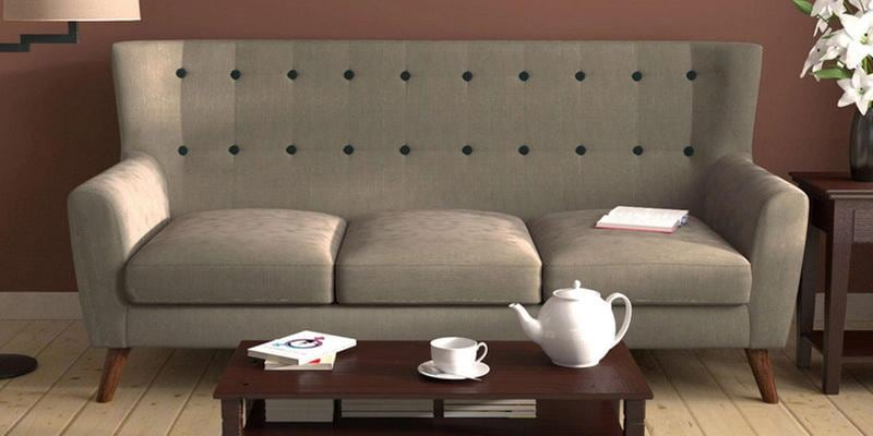 Havana Three Seater Sofa in Ecru Colour by CasaCraft