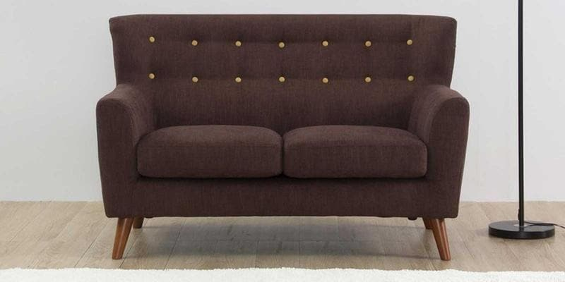 Havana Two Seater Sofa In Dark Brown Colour By CasaCraft