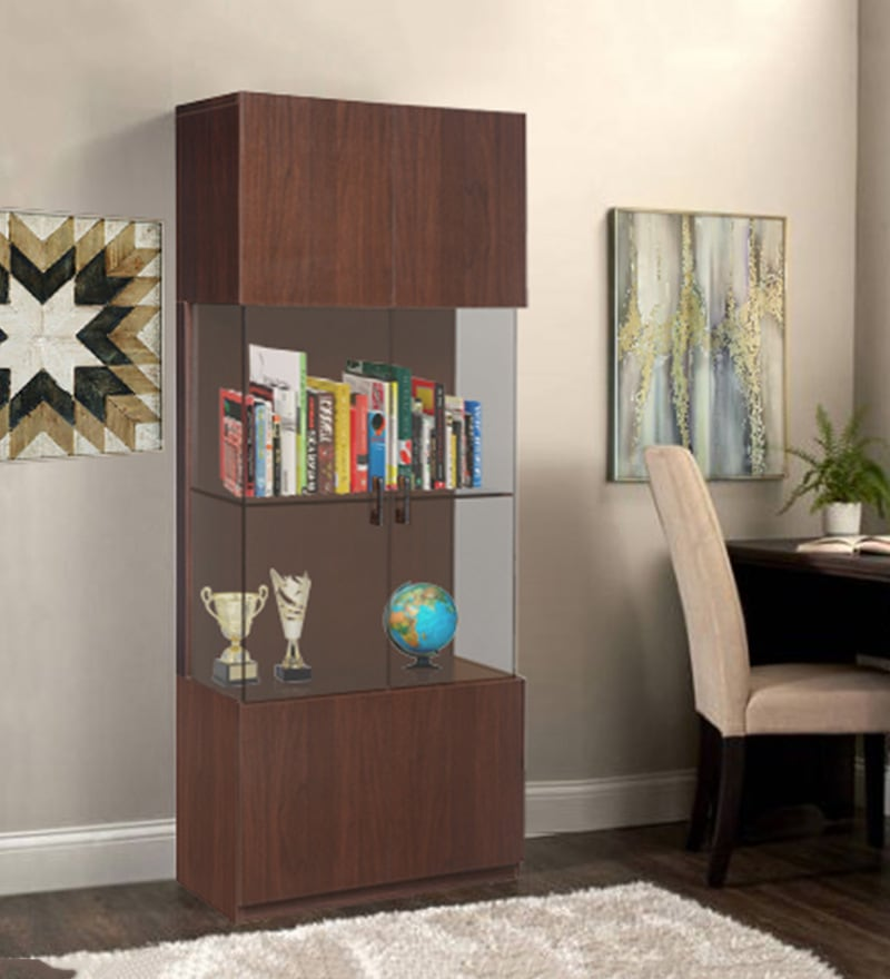 Hamlet Six Door Book Cabinet In Dark Walnut Finish By At Home