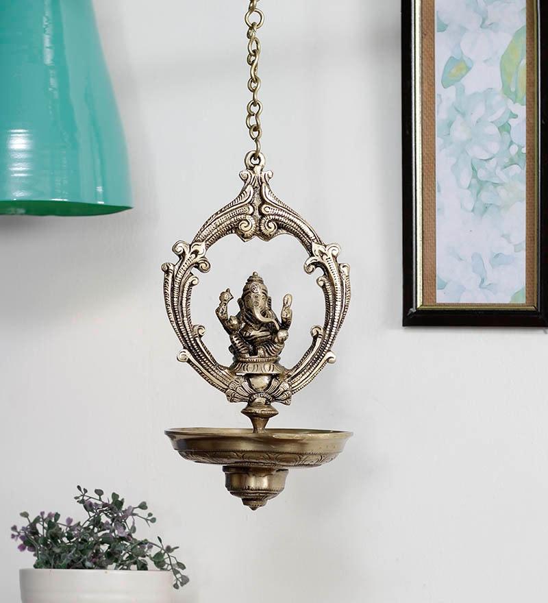 Diyas Glass Hanging Candle Holder