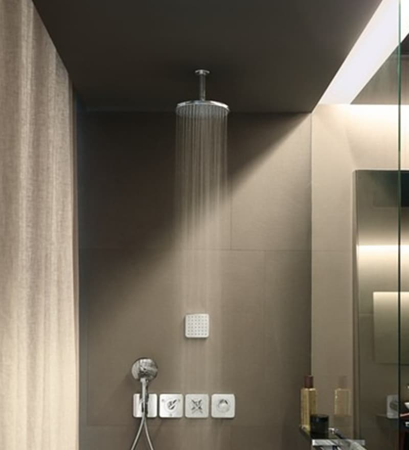Hansgrohe Axor Starck Chrome Brass 30.5 x 30.5 x 15.2 Inch Overhead Shower