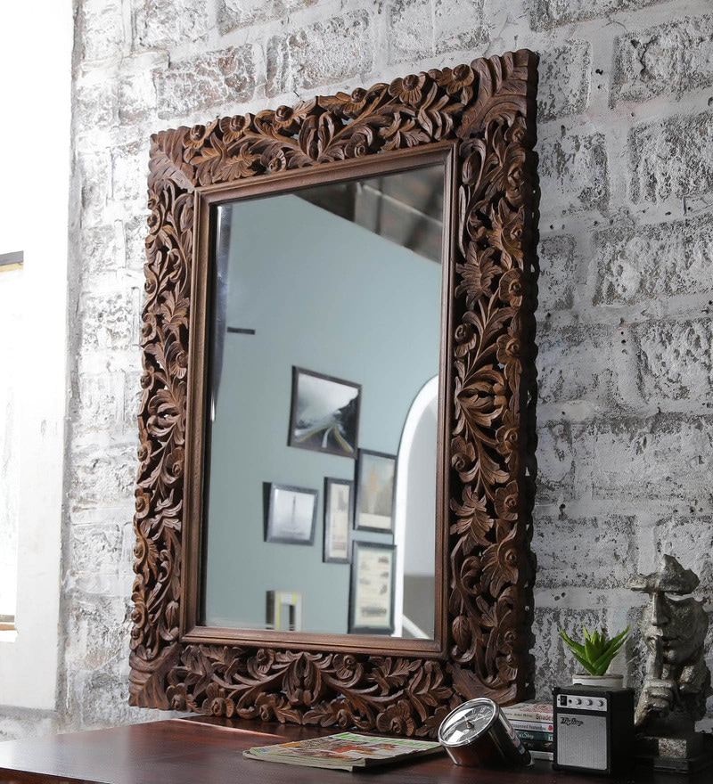 Buy Tate Rectangular Wall Mirror In Solid Wood Frame By