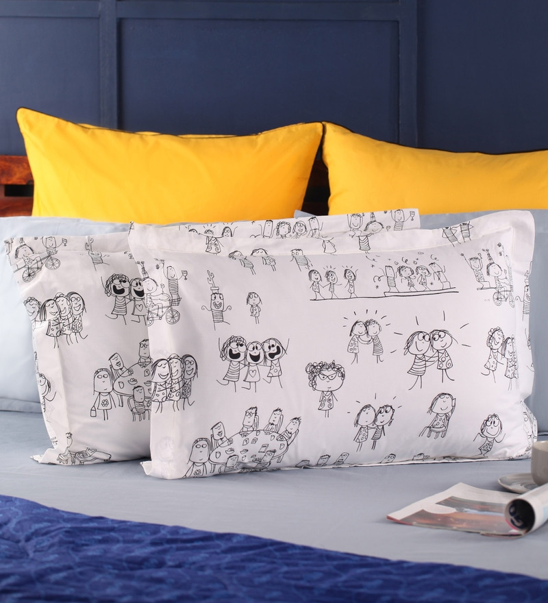 Happiness Pillow Cover in Multicolour by Portico New York