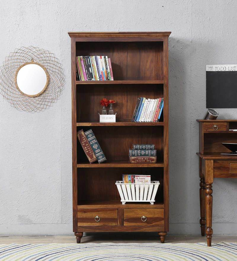 Harleston Book Shelf in Provincial Teak Finish by Amberville