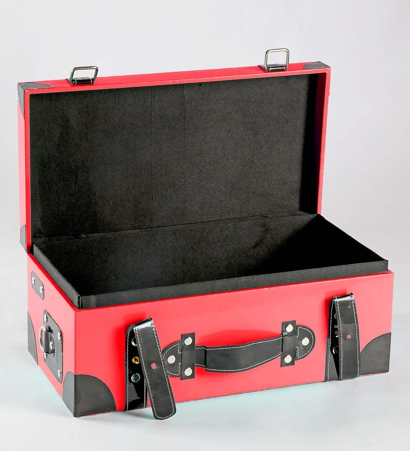 Haus and Sie Briefcase Style Faux Leather Red Travel Organiser