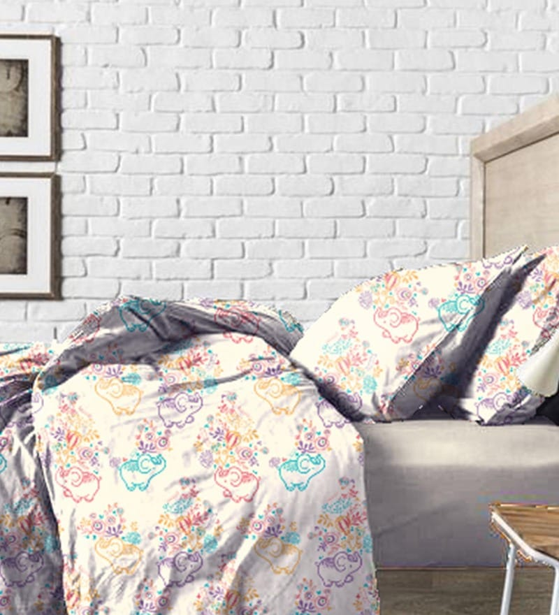 Cream Cotton Bed in a Bag Bedding Set by Haus and Sie