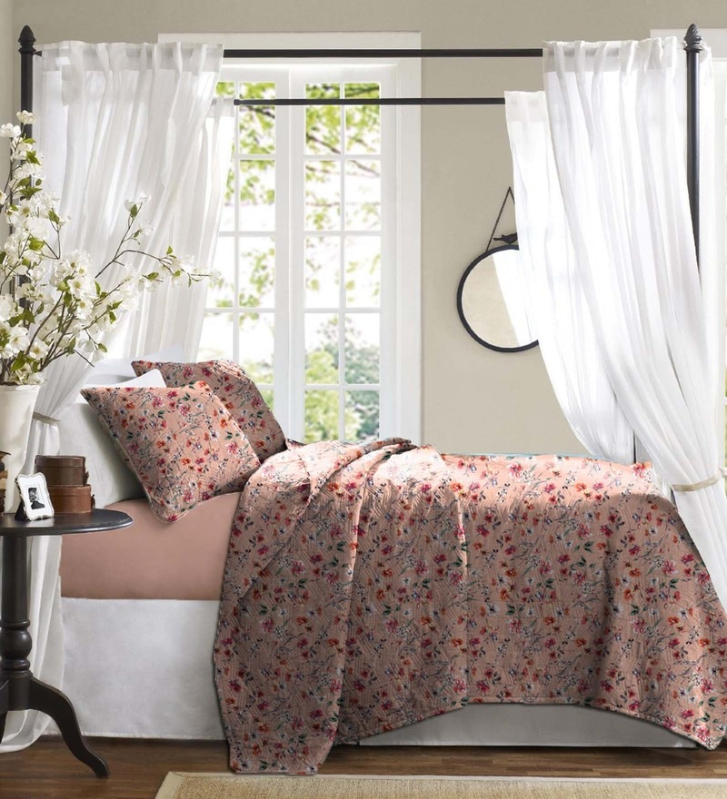 Peach Cotton Bed in a Bag Bedding Set by Haus and Sie