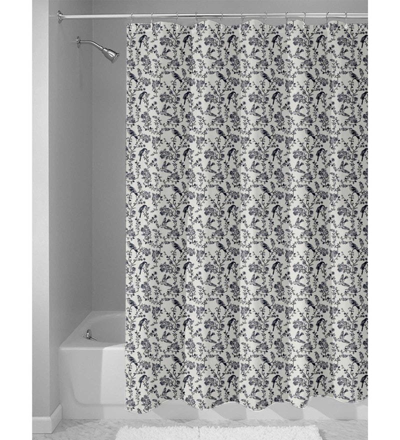 White Nylon 84 x 48 Inch Shower Curtain by Haus and Sie