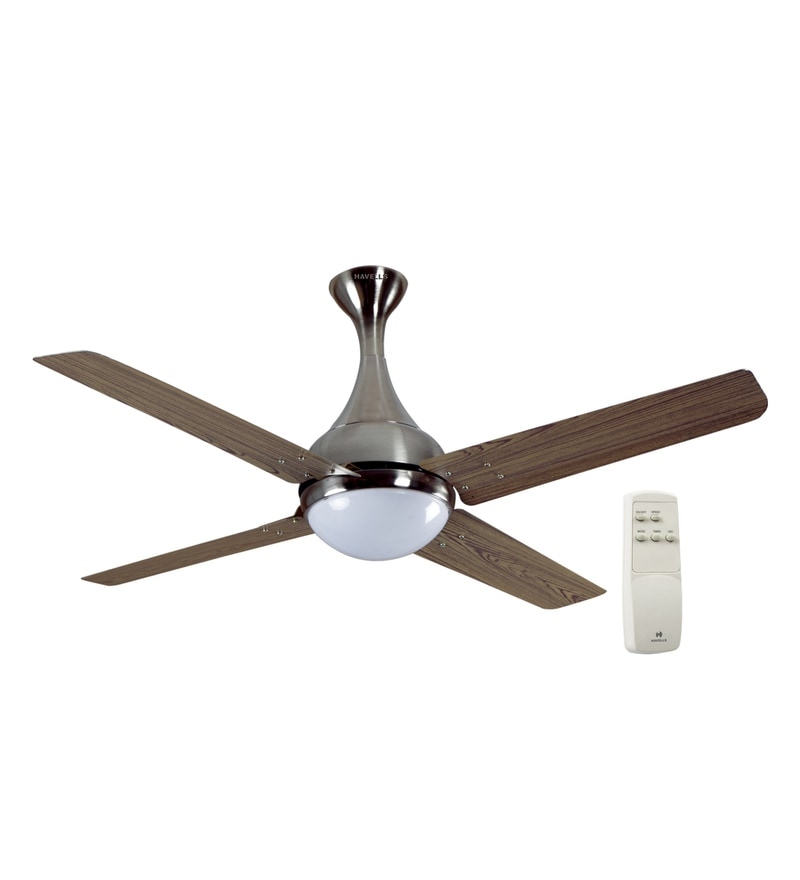 Havells Dew Viking Teak Brushed Nickel Designer Fan