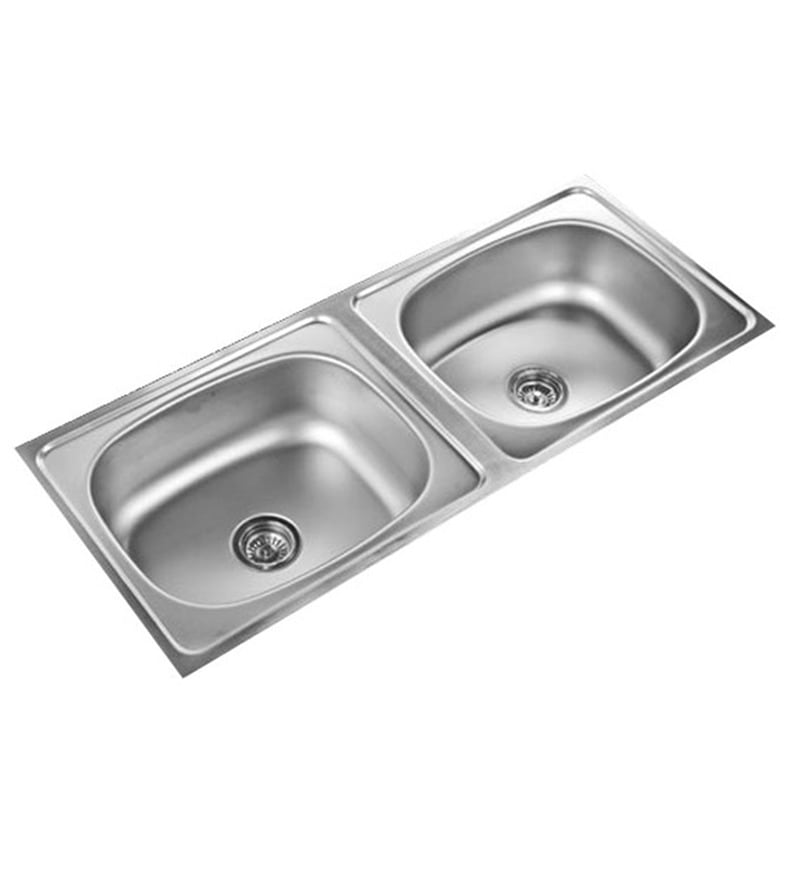 Unique  Stainless Steel Double Bowl Kitchen Sink