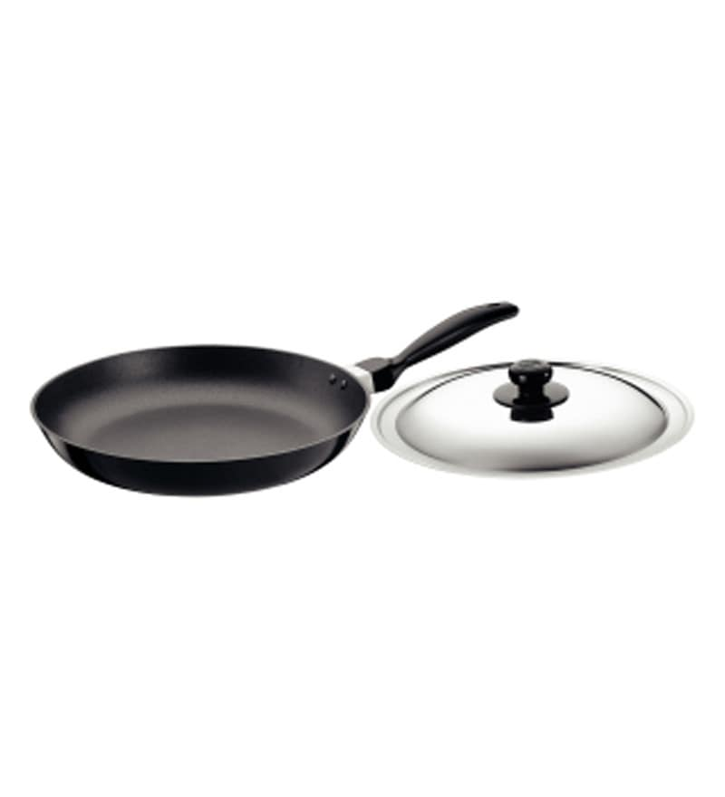 Futura Non-Stick Hard Anodized Frying Pan with Steel Lid by Hawkins