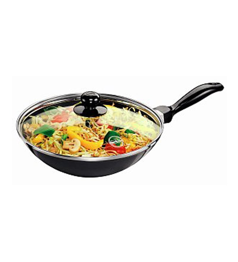 Buy Futura Aluminium 2 L Stir Fry Pan With Glass Lid By