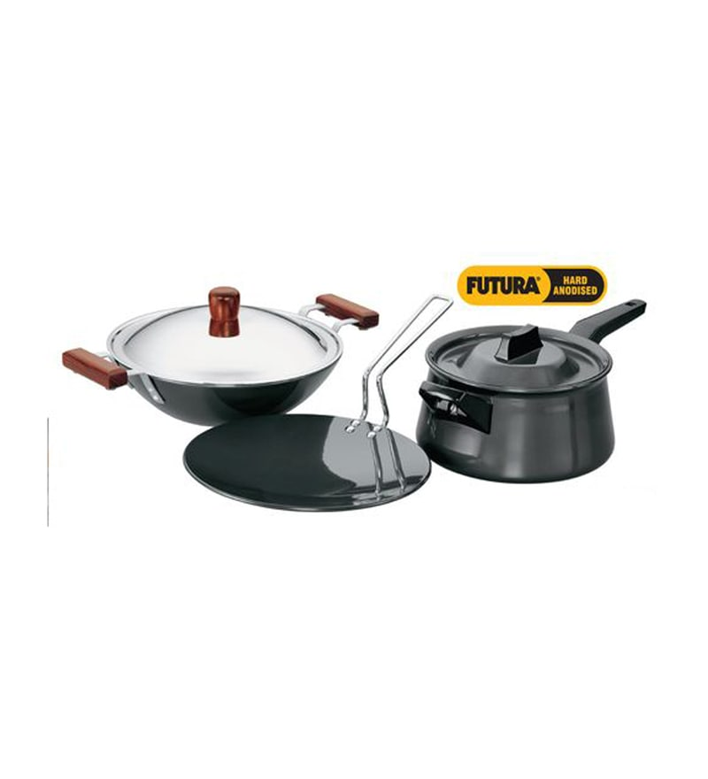 Steel Advanced Cookware Set - Set of 3 by Hawkins