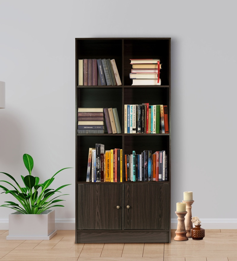 Book Furniture: Buy Hayao 6 Cube Book Shelf With Bottom Cabinet In Wenge