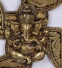Antique Yellow Brass Ganesha Swastika Wall Hanging by Handecor