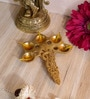 Antique Yellow Brass Panchdeep Pooja Spoon by Handecor