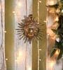 Brown Brass Surya Wall Hanging by Handecor