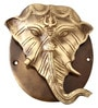 Handecor Ganesh Brass 4 x 1 x 5 Inch Designer Door Knocker With Plate Base