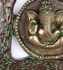 Handecor Multicolour Brass Ganesha under Banana Tree Wall Hanging