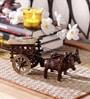 Multicolour Brass Village Bullock Cart Showpiece by Handecor